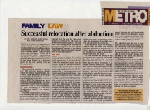 successful relocation after abduction